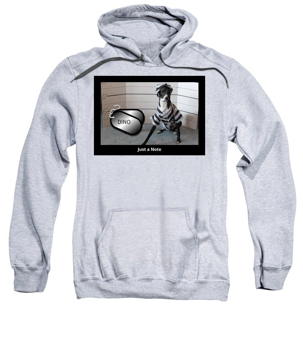 Italian Greyhound Sweatshirt featuring the digital art Italian Greyhound Bad Boy by Janie Norris