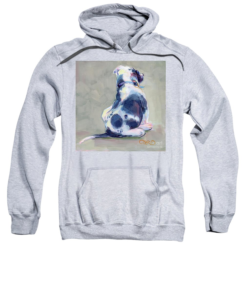 Black And White Sweatshirt featuring the painting Itch by Kimberly Santini