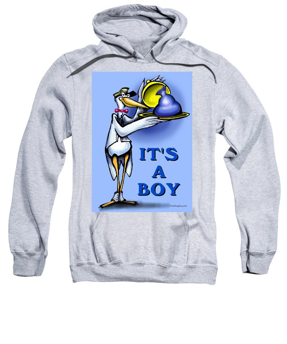 Baby Sweatshirt featuring the greeting card It's A Boy by Kevin Middleton