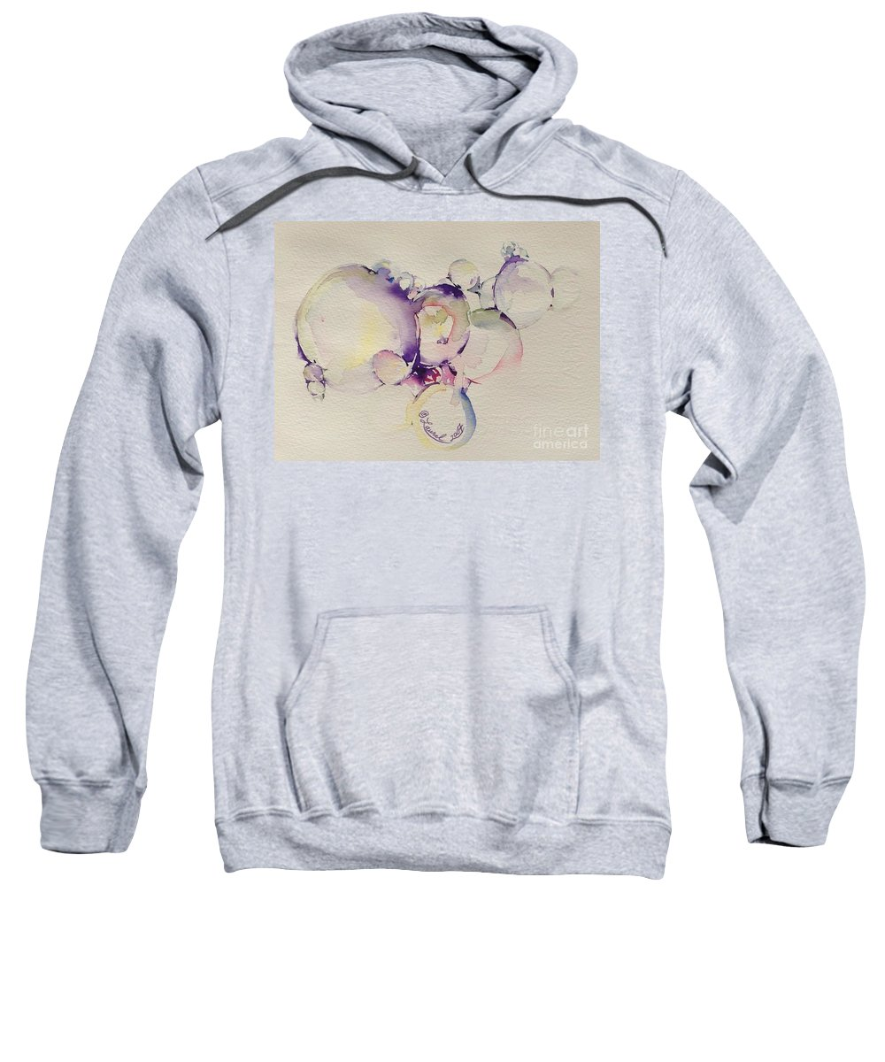 Artist Favorites Sweatshirt featuring the painting It's All In The Bubble by Laurel Adams