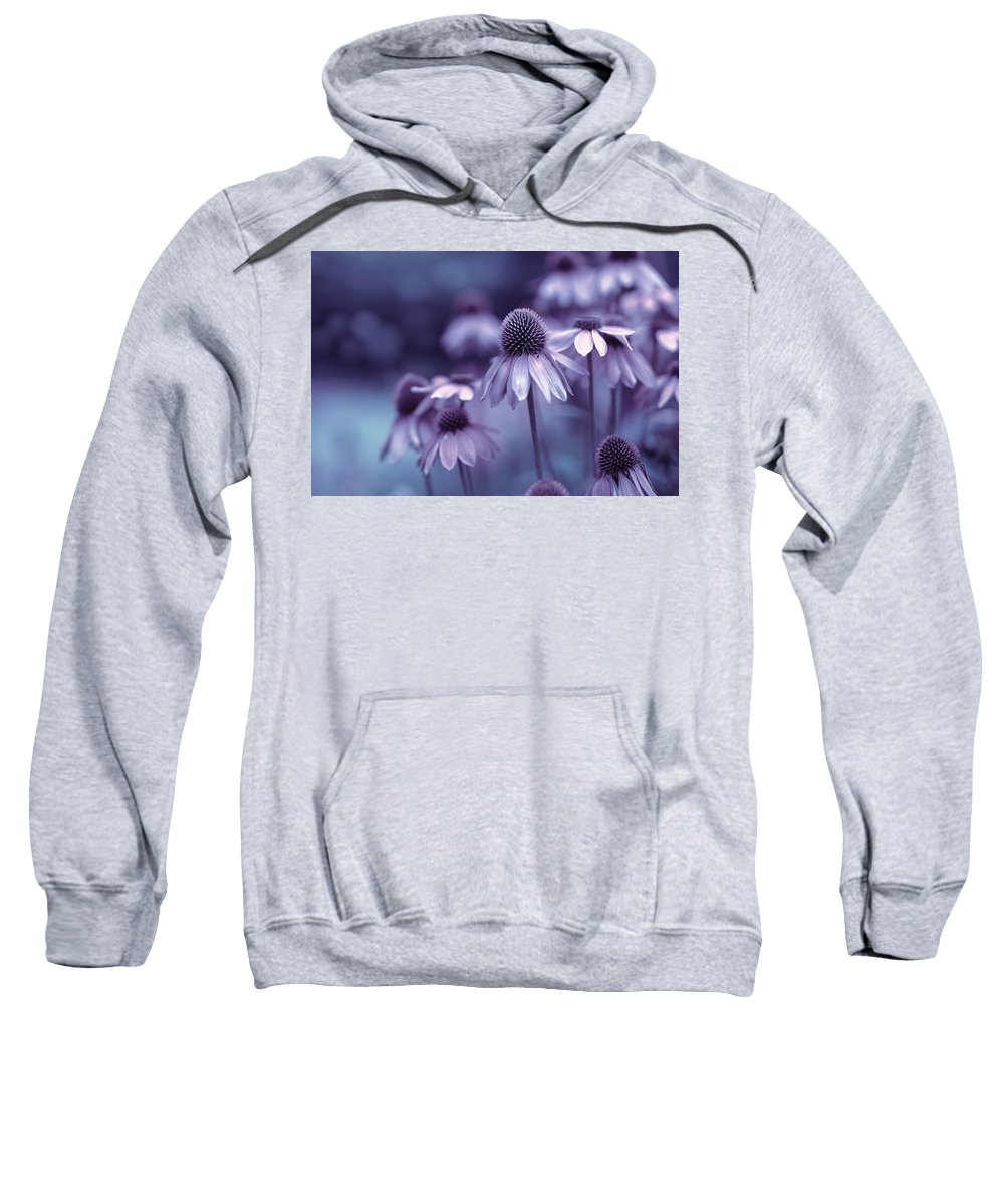 Flowers Sweatshirt featuring the pyrography It's Early In The Morning by Hanna Tor