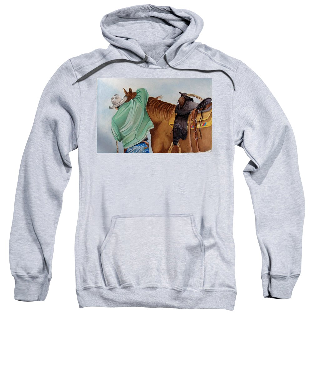 Boots Sweatshirt featuring the painting Its Just Us by Jimmy Smith