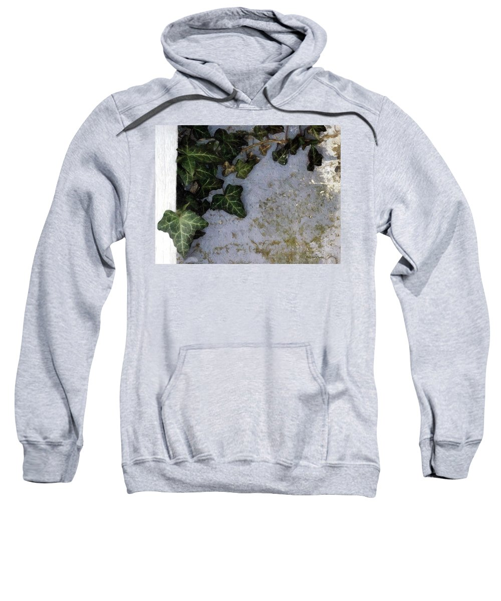 Botanical Sweatshirt featuring the painting Ivy League by RC DeWinter