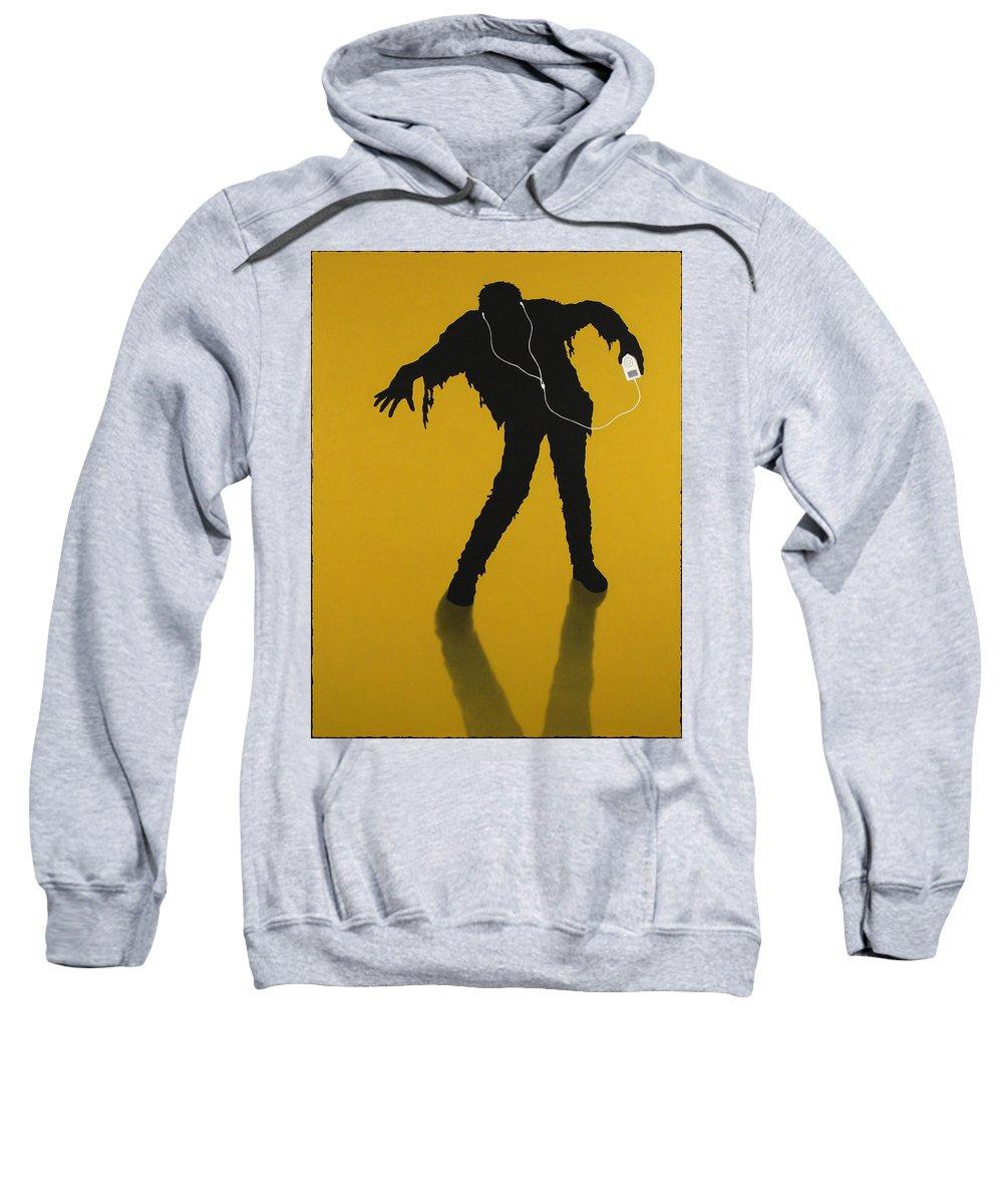 Ipod Sweatshirt featuring the painting iZombie by James W Johnson