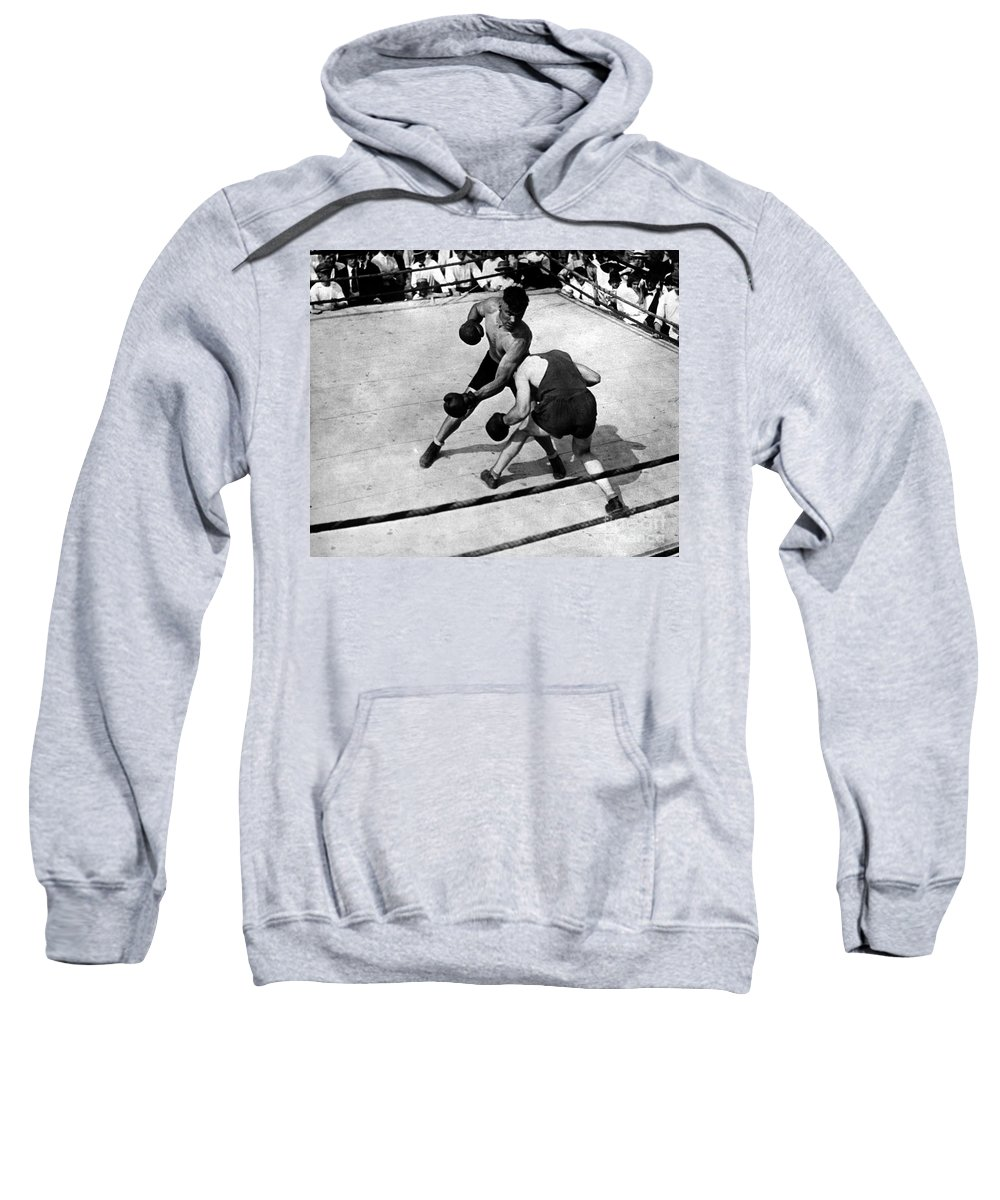 1919 Sweatshirt featuring the photograph Jack Dempsey by Granger