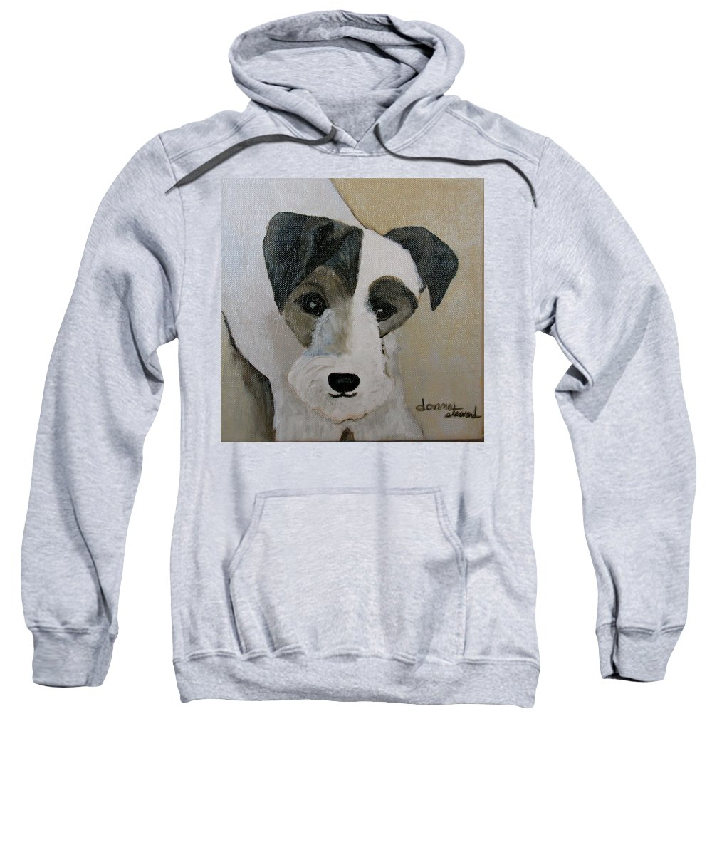 Acrylic Sweatshirt featuring the painting Jack by Donna Steward