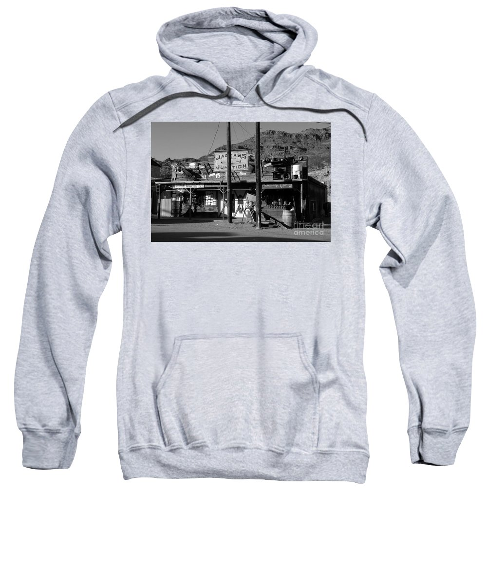 Arizona Sweatshirt featuring the photograph Jackass Junction by David Lee Thompson