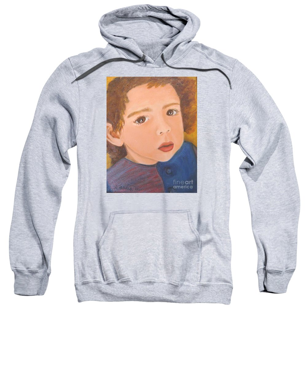 Portrait Sweatshirt featuring the painting Jackson by Laurie Morgan