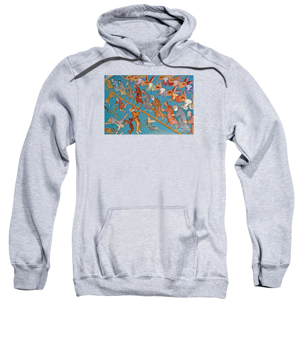 Jacob Sweatshirt featuring the painting Jacobs Ladder by Cypriot School