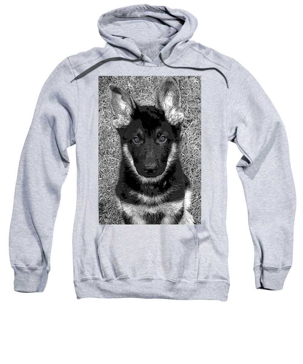 Dog Sweatshirt featuring the digital art Jager by Stacey May