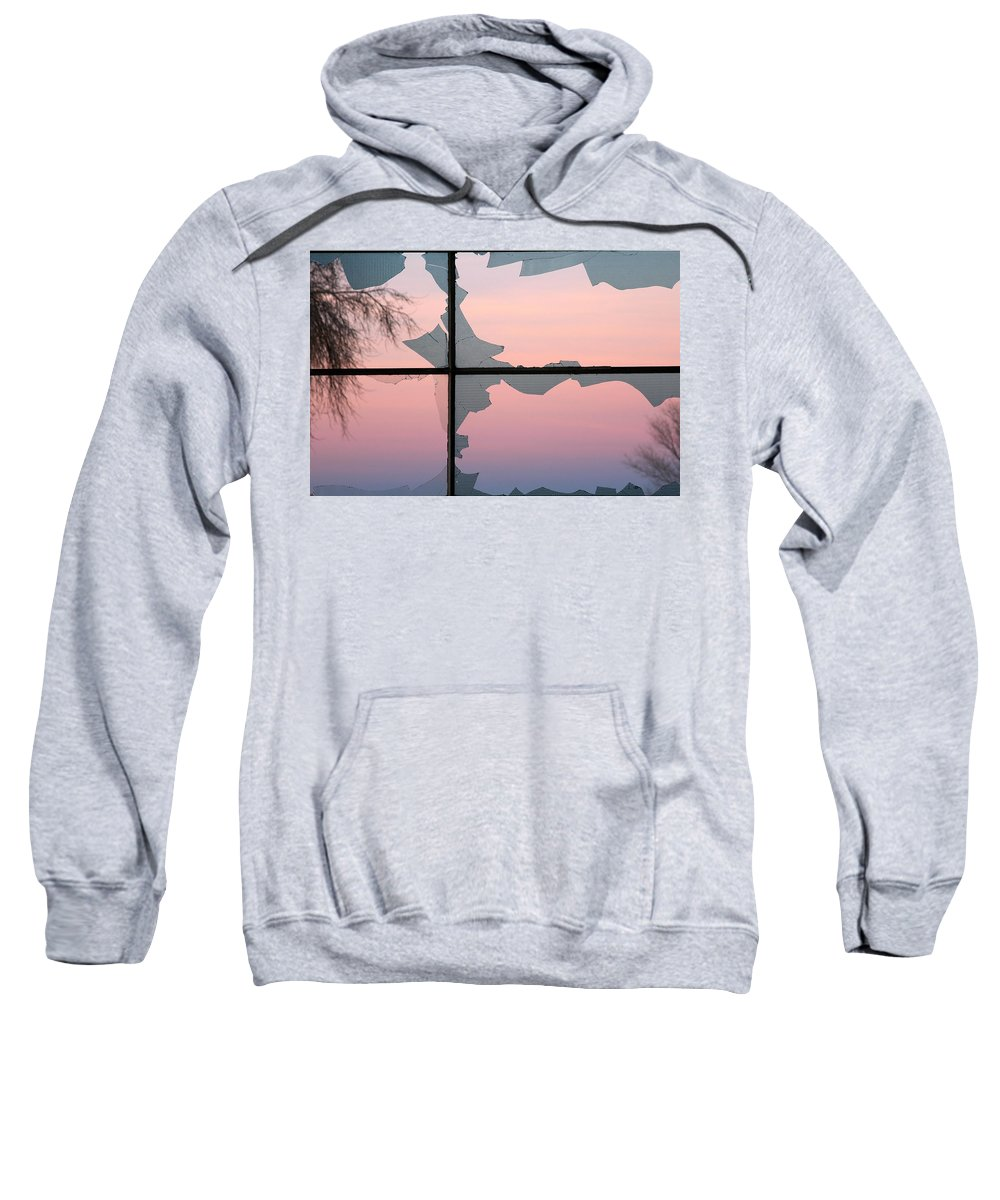 Broken Sweatshirt featuring the photograph Jagged Twilight by D'Arcy Evans