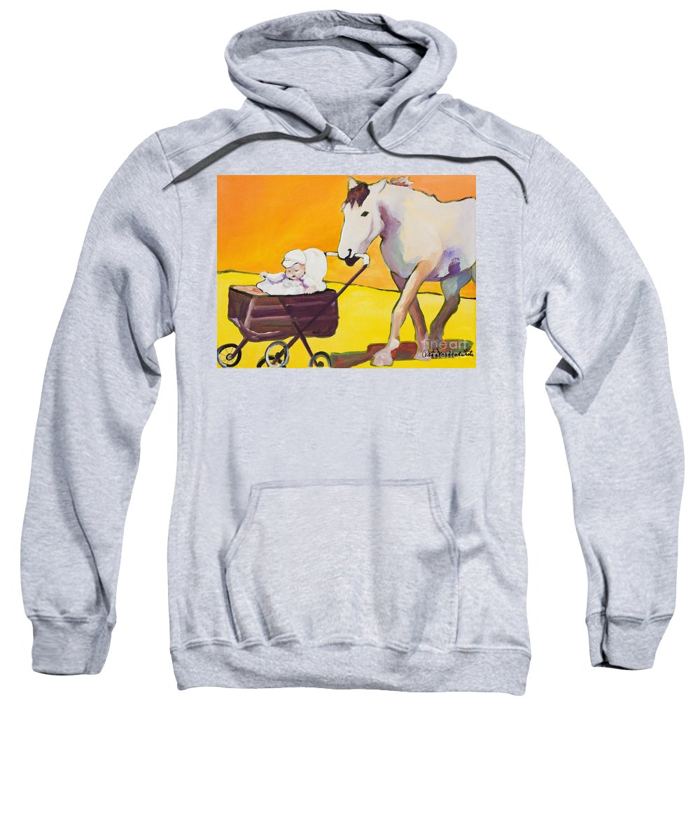 Animal Sweatshirt featuring the painting Jake by Pat Saunders-White