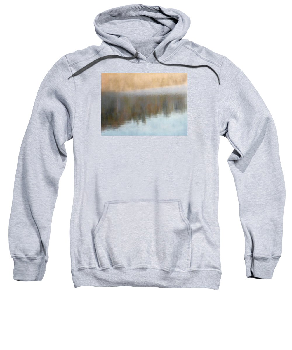 Water Sweatshirt featuring the photograph Deep Mist And Reflections On Jamaica Pond by Giora Hadar