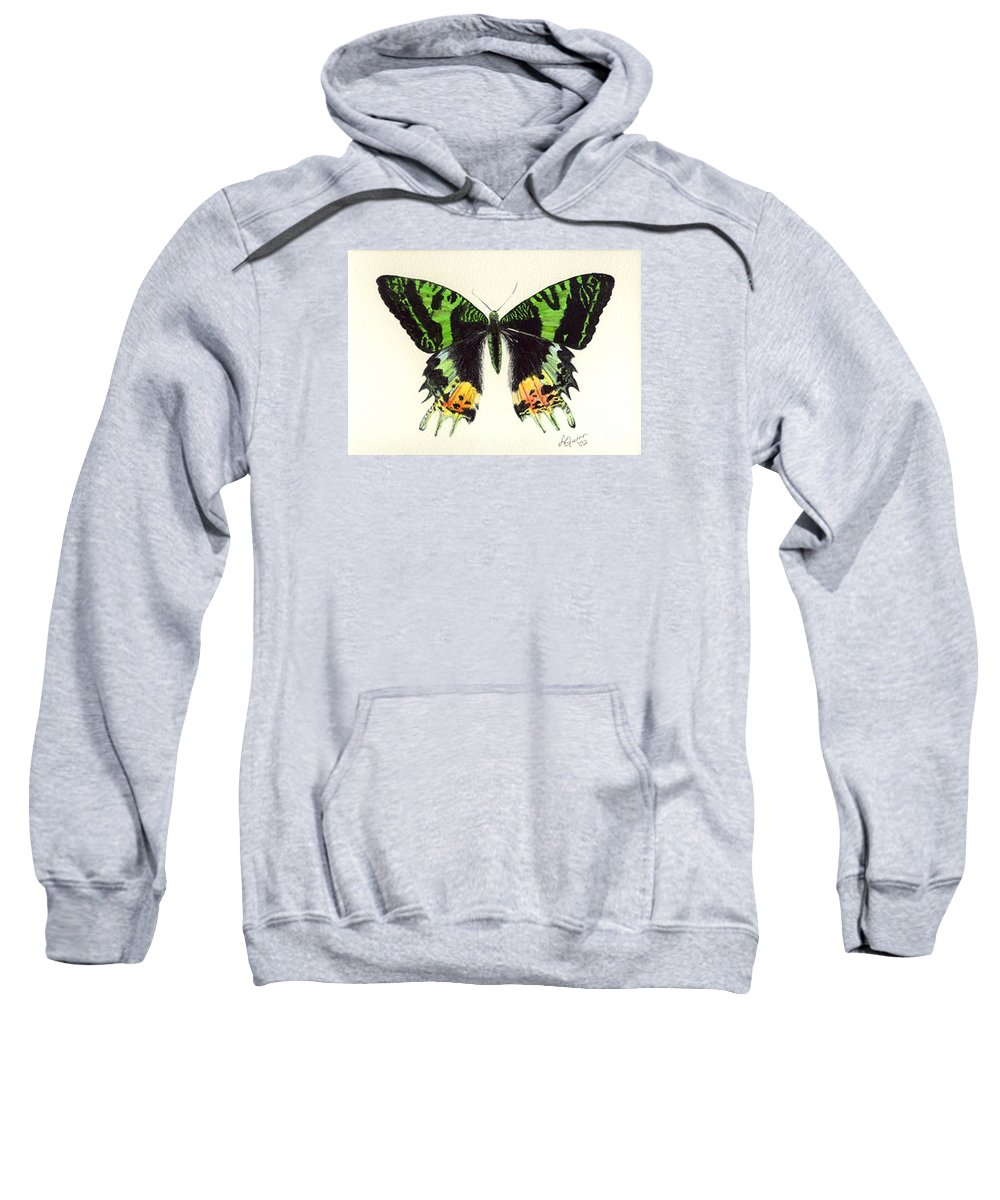 Butterfly Sweatshirt featuring the painting Jamaican Jewel by Lynn Quinn