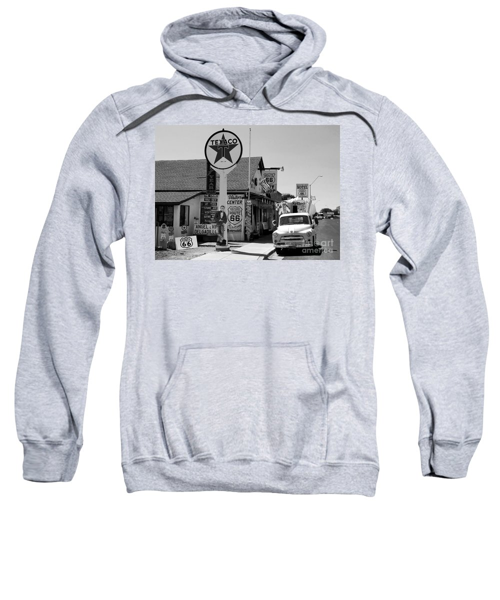 James Dean Sweatshirt featuring the photograph James Dean On Route 66 by David Lee Thompson