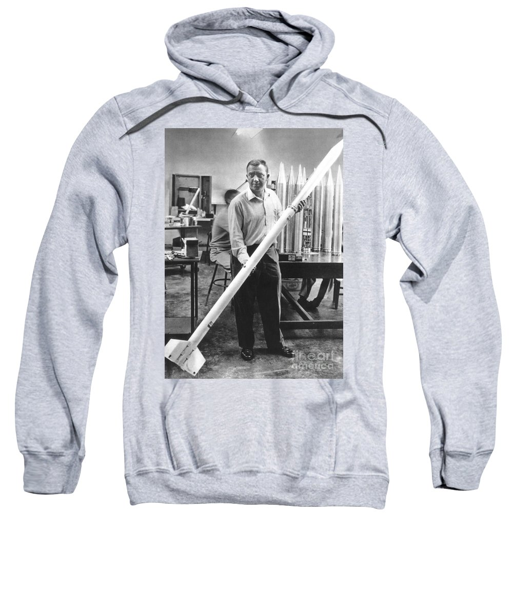 20th Century Sweatshirt featuring the photograph James Van Allen (1914-2006) by Granger