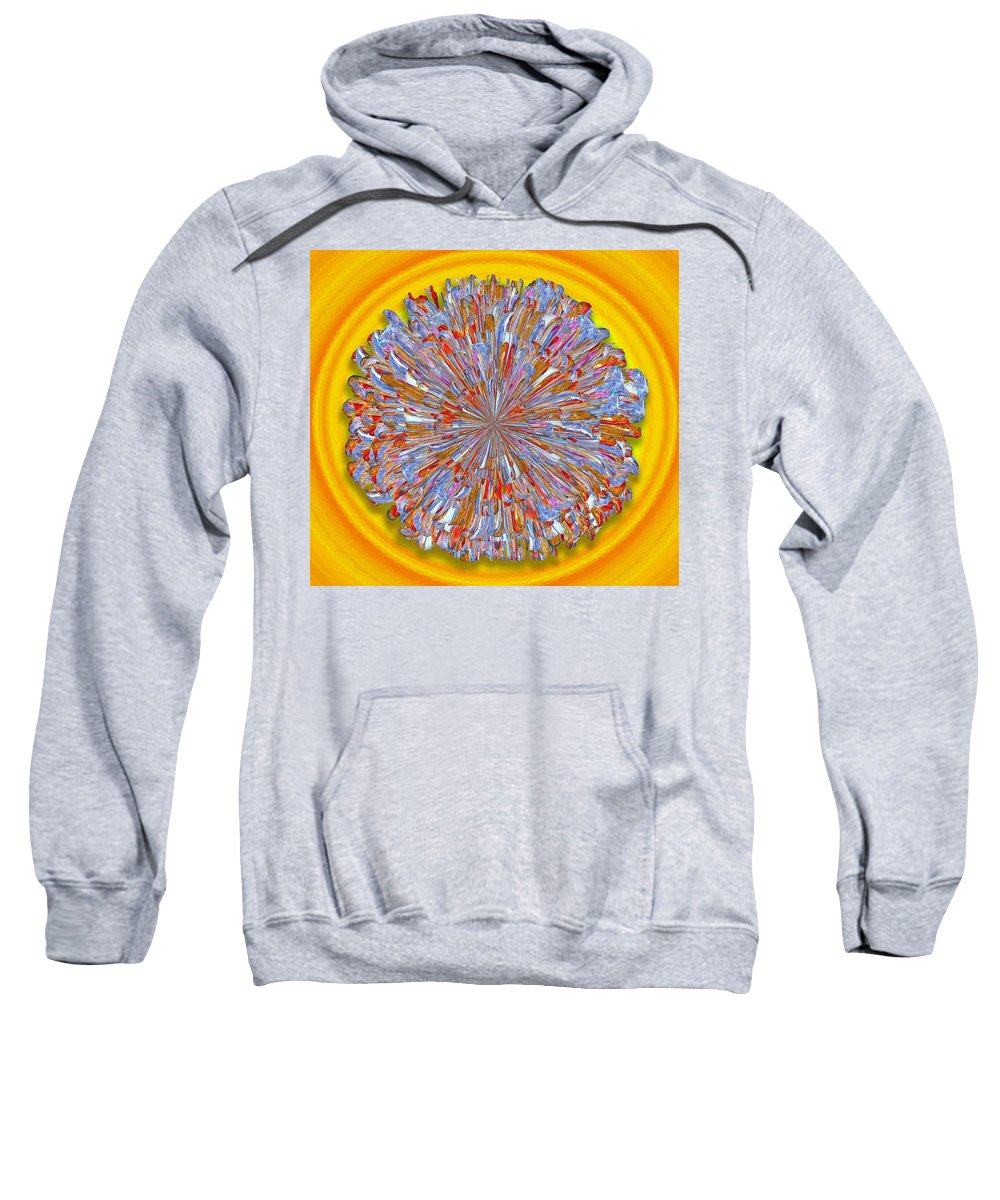 Digital Sweatshirt featuring the digital art Janet -- Floral Disk by Mark Sellers