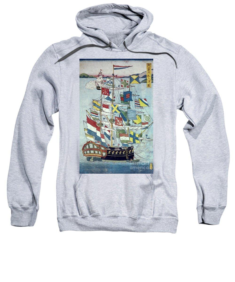 19th Century Sweatshirt featuring the photograph Japan: Dutch Ship by Granger