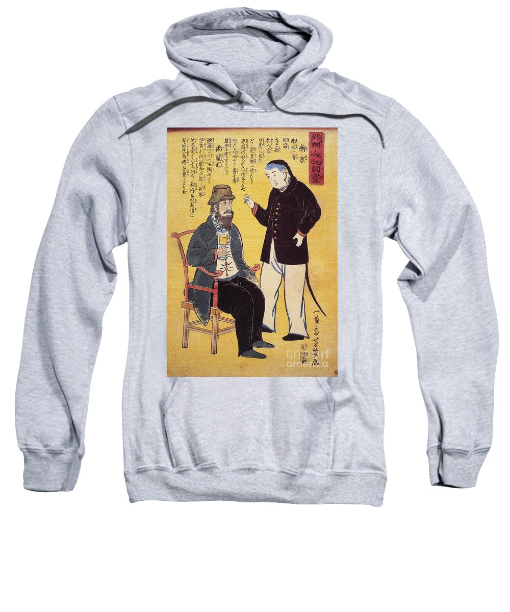 1861 Sweatshirt featuring the photograph Japan: French Trade, 1861 by Granger