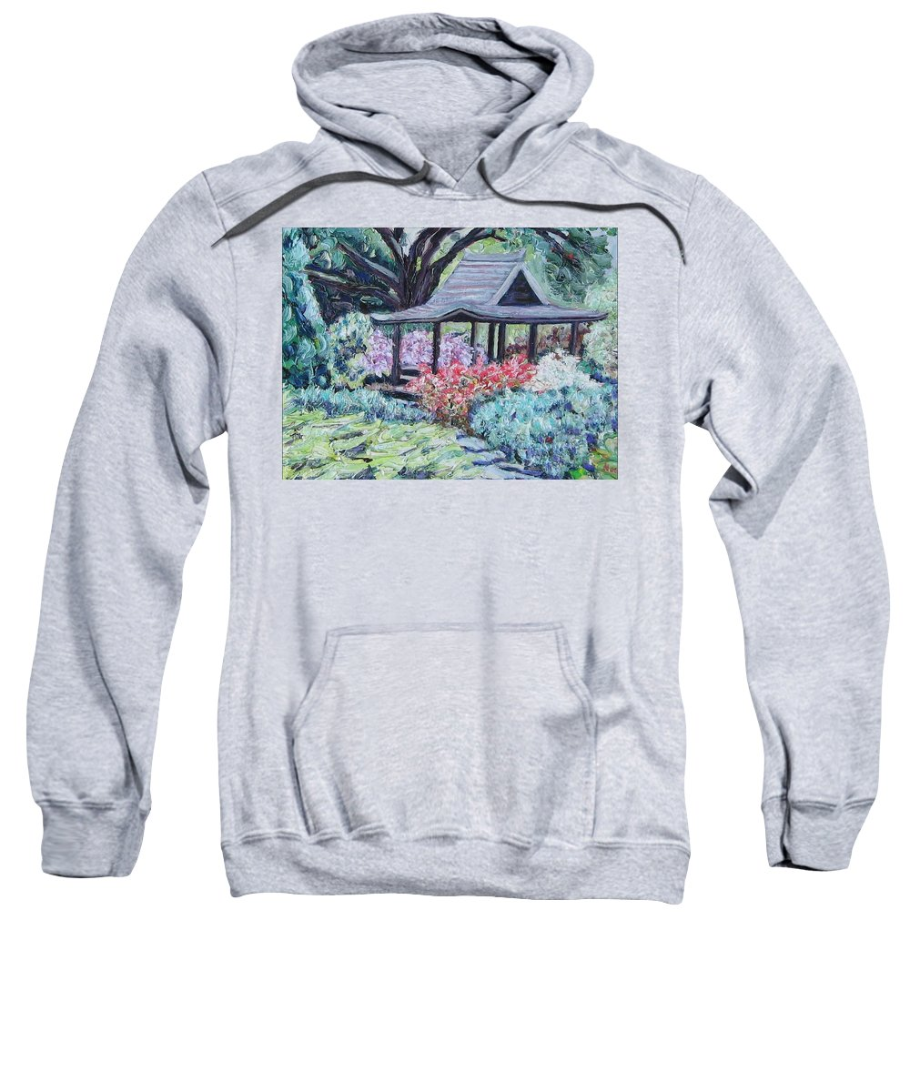 Garden Sweatshirt featuring the painting Japanese Garden by Richard Nowak