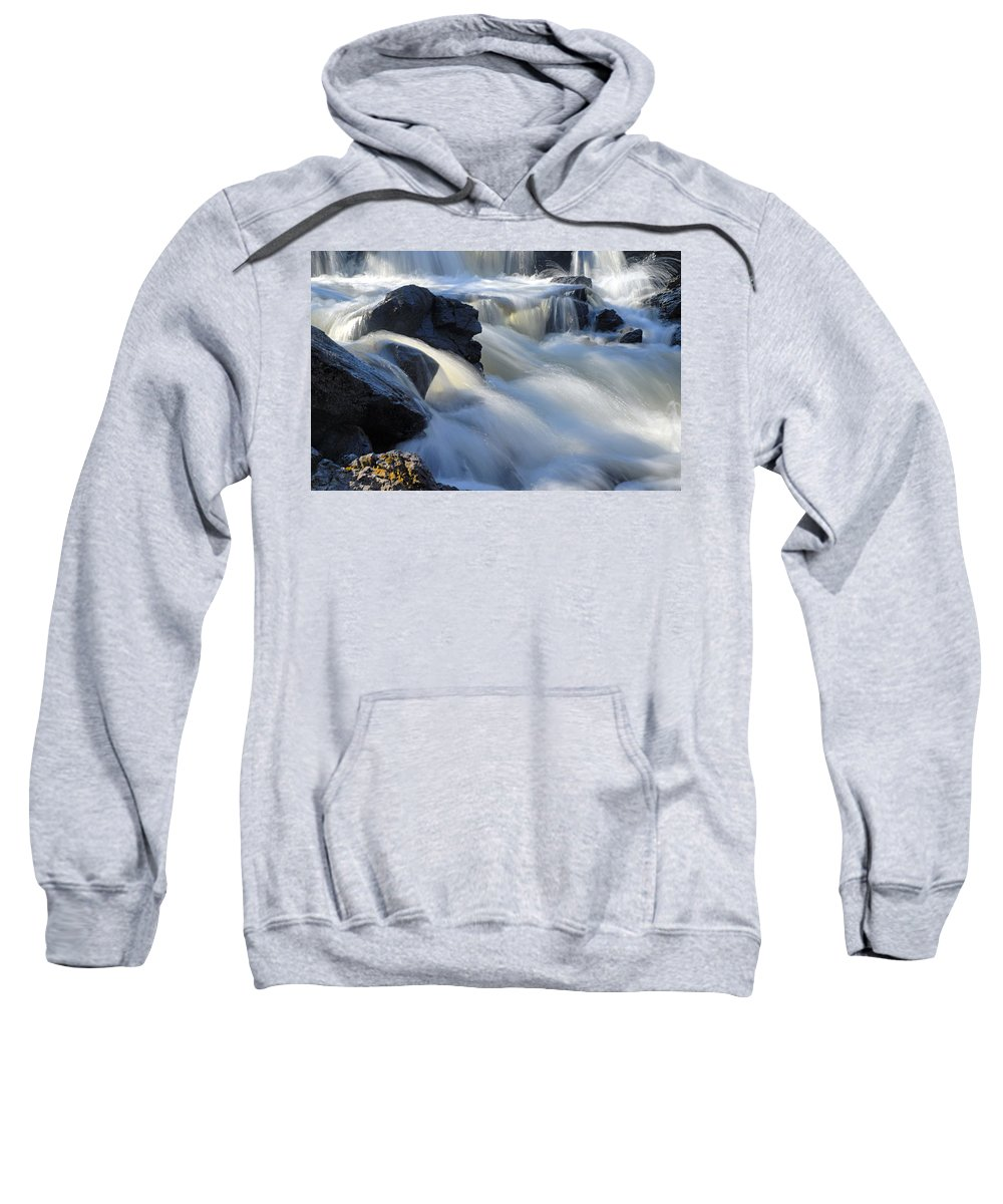 Boundary Waters Canoe Area Wilderness Sweatshirt featuring the photograph Jasper Falls Closeup by Larry Ricker