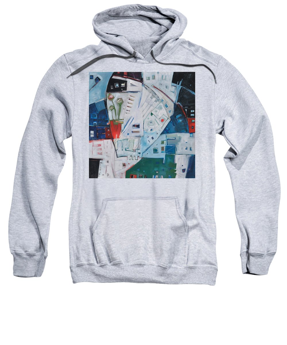 Jazz Sweatshirt featuring the painting Jazz In Bloom by Tim Nyberg