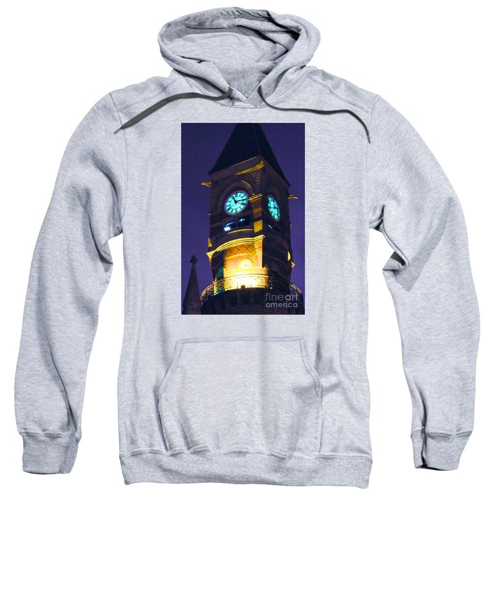 Jefferson Market Clock Tower Sweatshirt featuring the photograph Jefferson Market Clock Tower by Ken Lerner