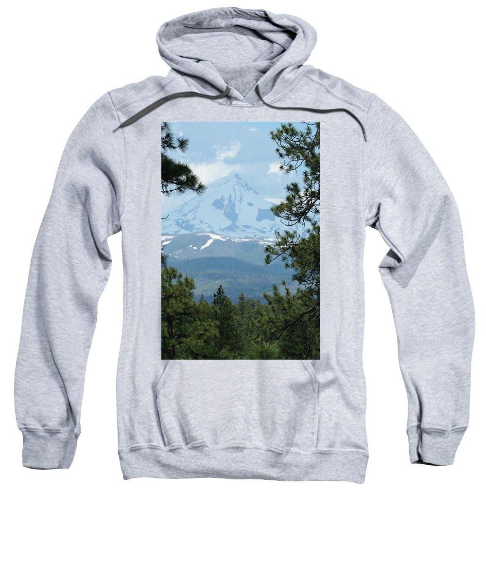Mount Jefferson Sweatshirt featuring the photograph Jefferson Pines by Laddie Halupa