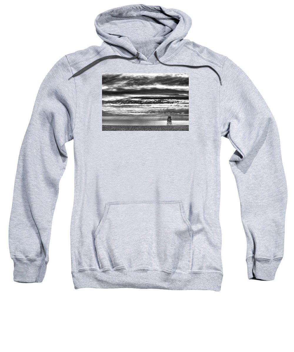 Beach Sweatshirt featuring the photograph Jennings Beach, Fairfield by Michael Gallitelli