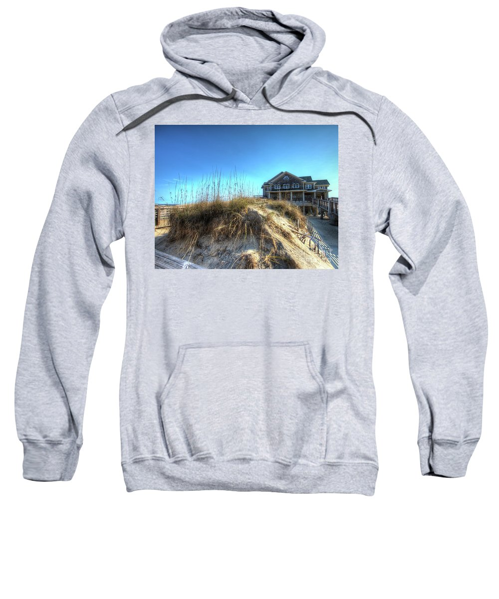 Currituck Beach Sweatshirt featuring the photograph Jennettes Pier Nags Head North Carolina by Greg Hager