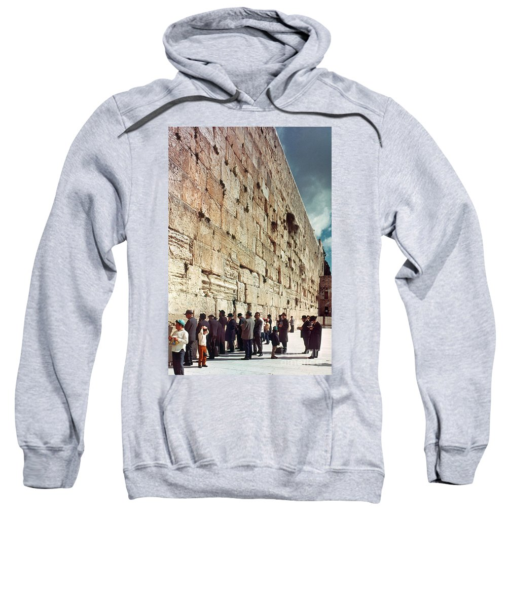 20th Century Sweatshirt featuring the photograph Jerusalem Wailing Wall - To License For Professional Use Visit Granger.com by Granger