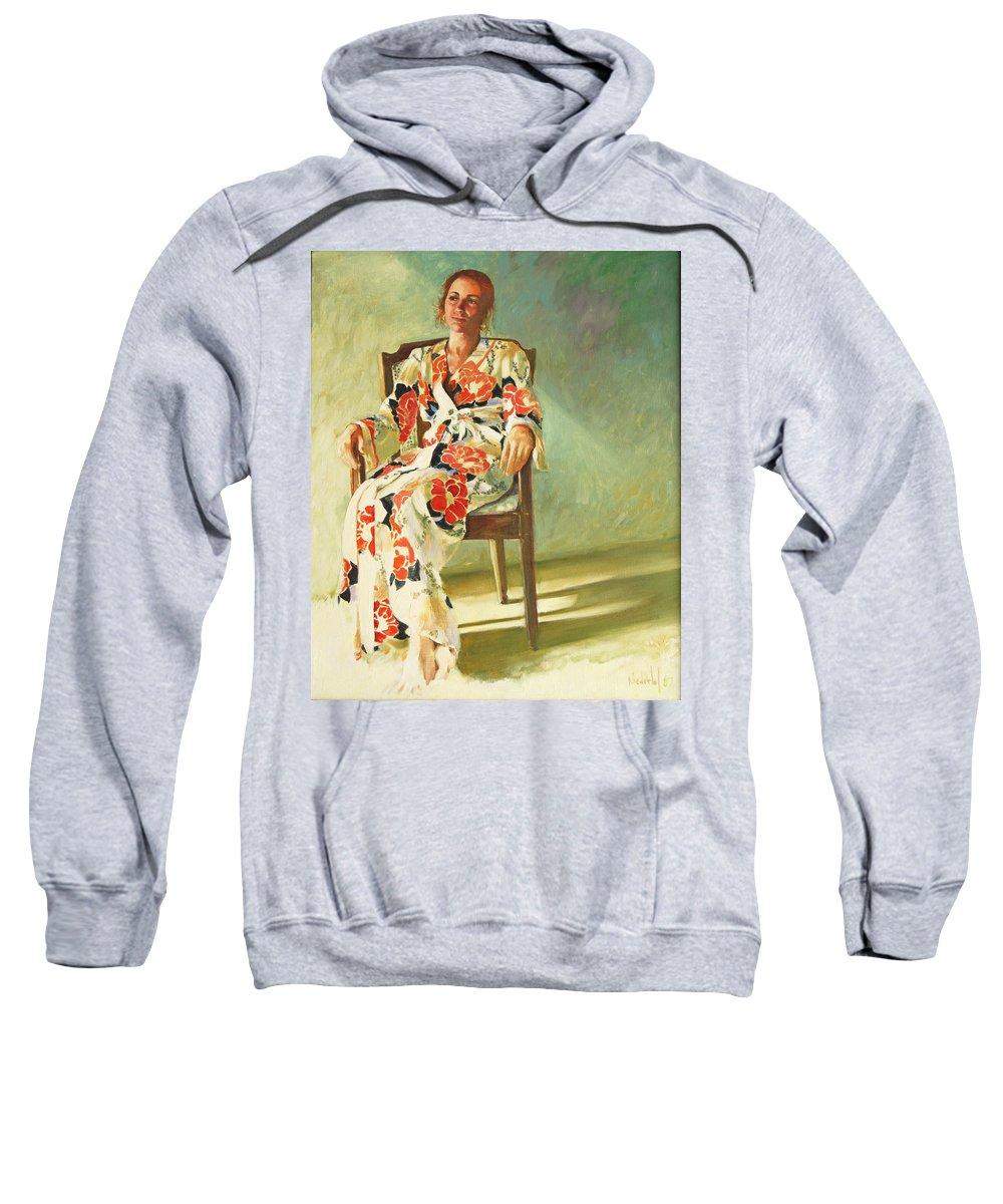 Girl Sweatshirt featuring the painting Jess by Rick Nederlof