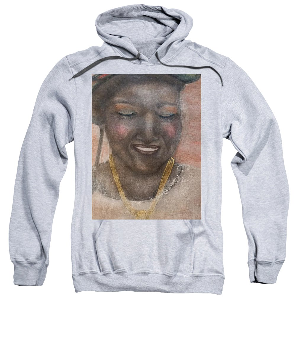 Woman Sweatshirt featuring the drawing Jessica by Carrine Lovelace