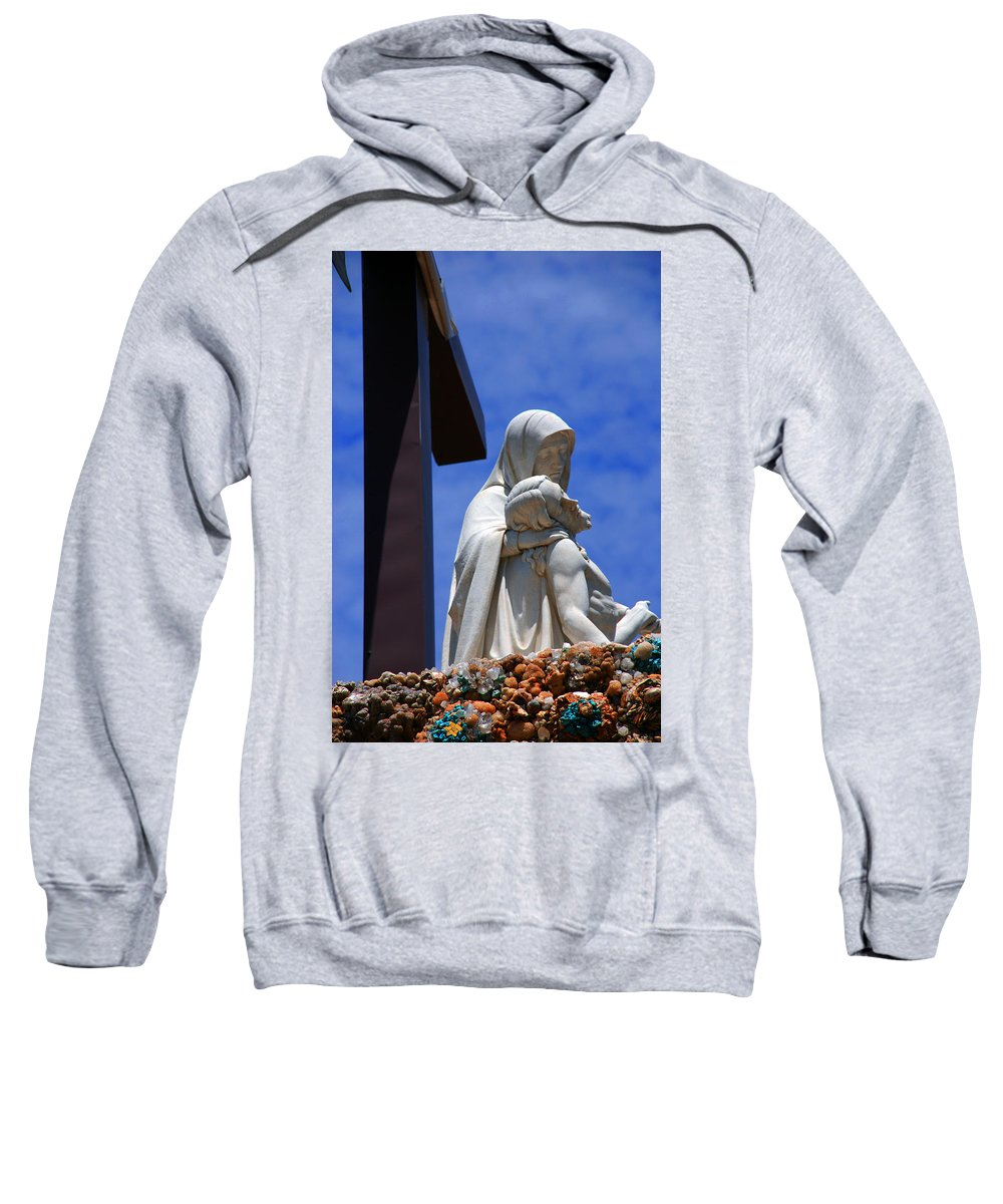Jesus And Maria Sweatshirt featuring the photograph Jesus And Maria by Susanne Van Hulst