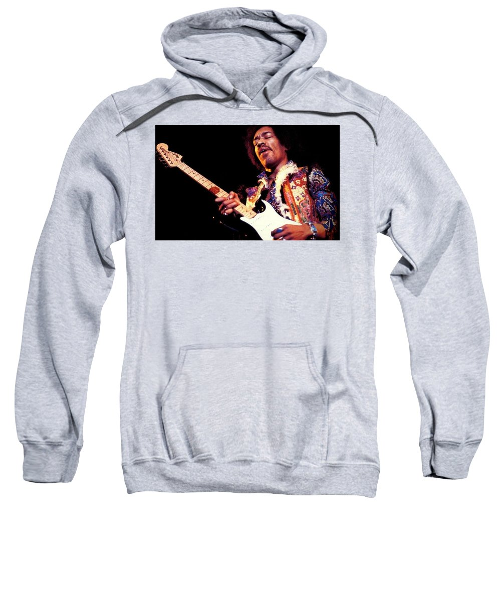 Jimi Hendrix Sweatshirt featuring the digital art Jimi Hendrix by Bert Mailer