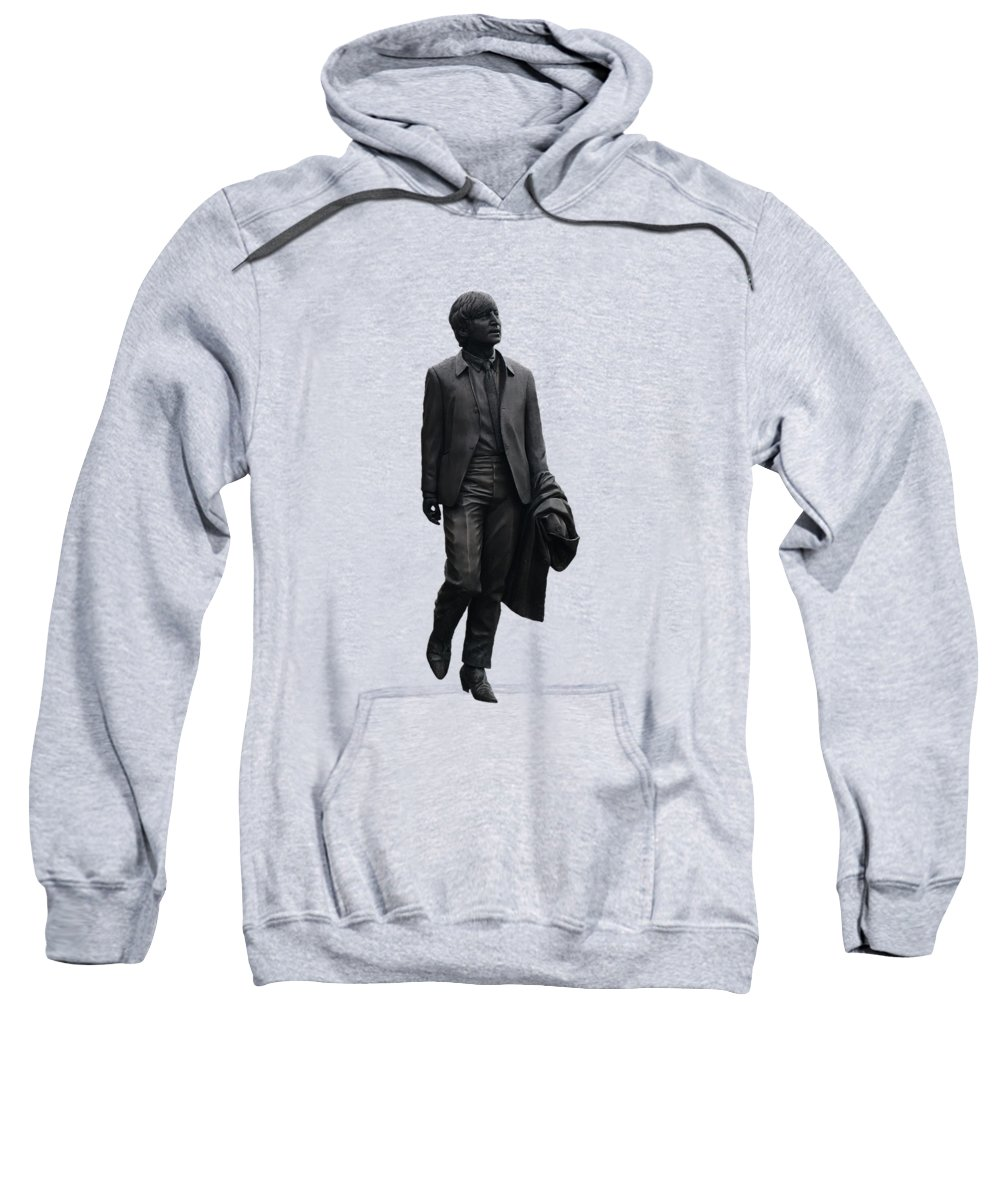 John Lennon Sweatshirt featuring the mixed media John Lennon by Movie Poster Prints