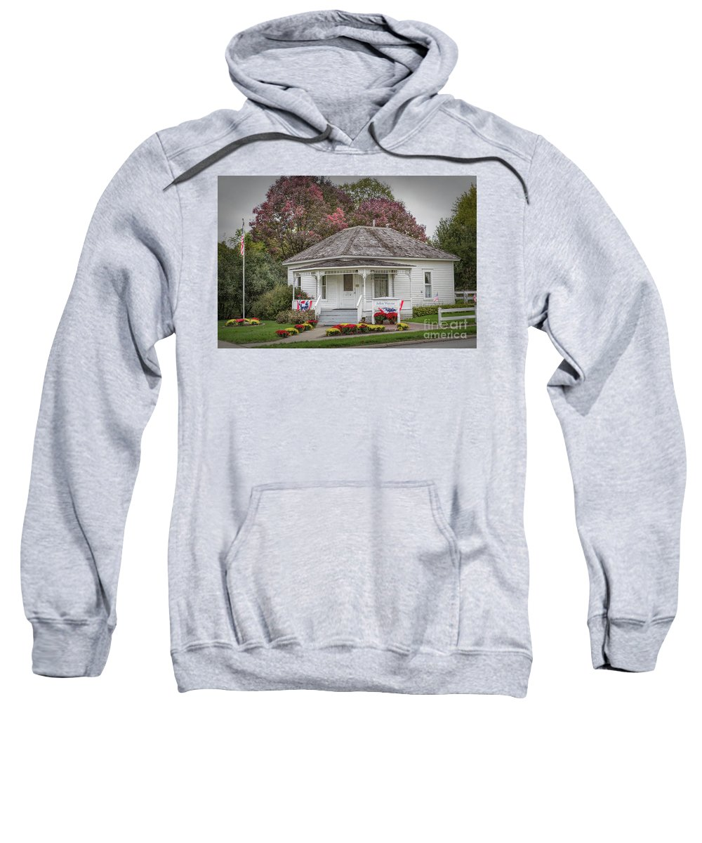 John Wayne Birthplace Sweatshirt featuring the photograph John Wayne Birthplace by Lynn Sprowl