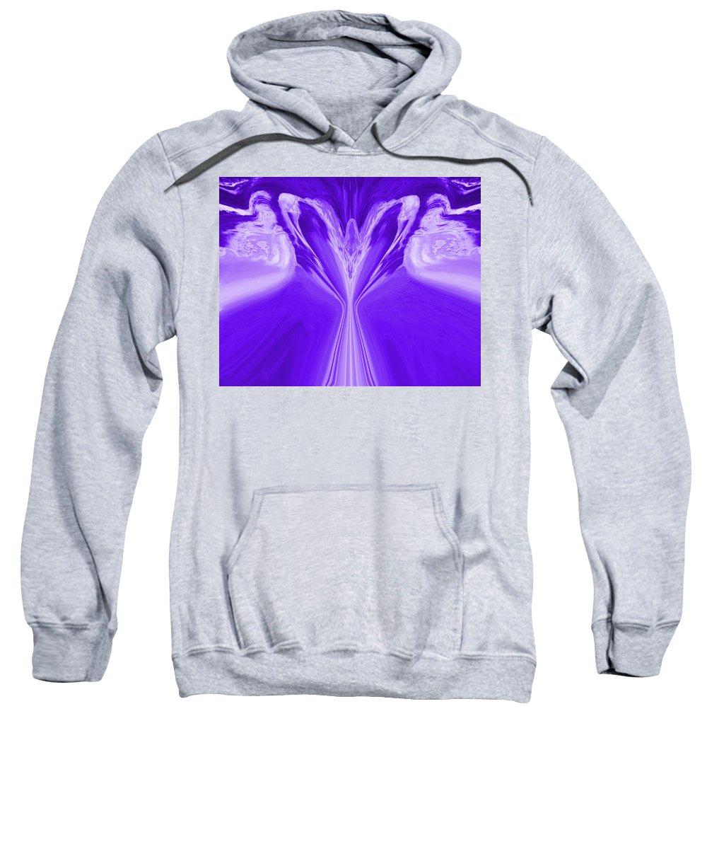 Angel Sweatshirt featuring the digital art Josea - Purple by Artistic Mystic