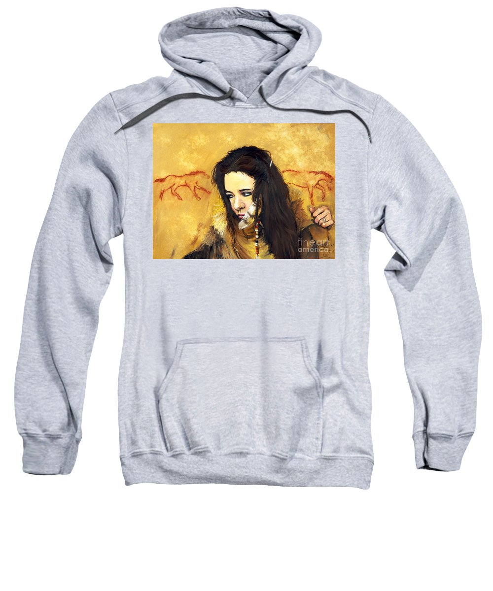 Southwest Art Sweatshirt featuring the painting Journey by J W Baker