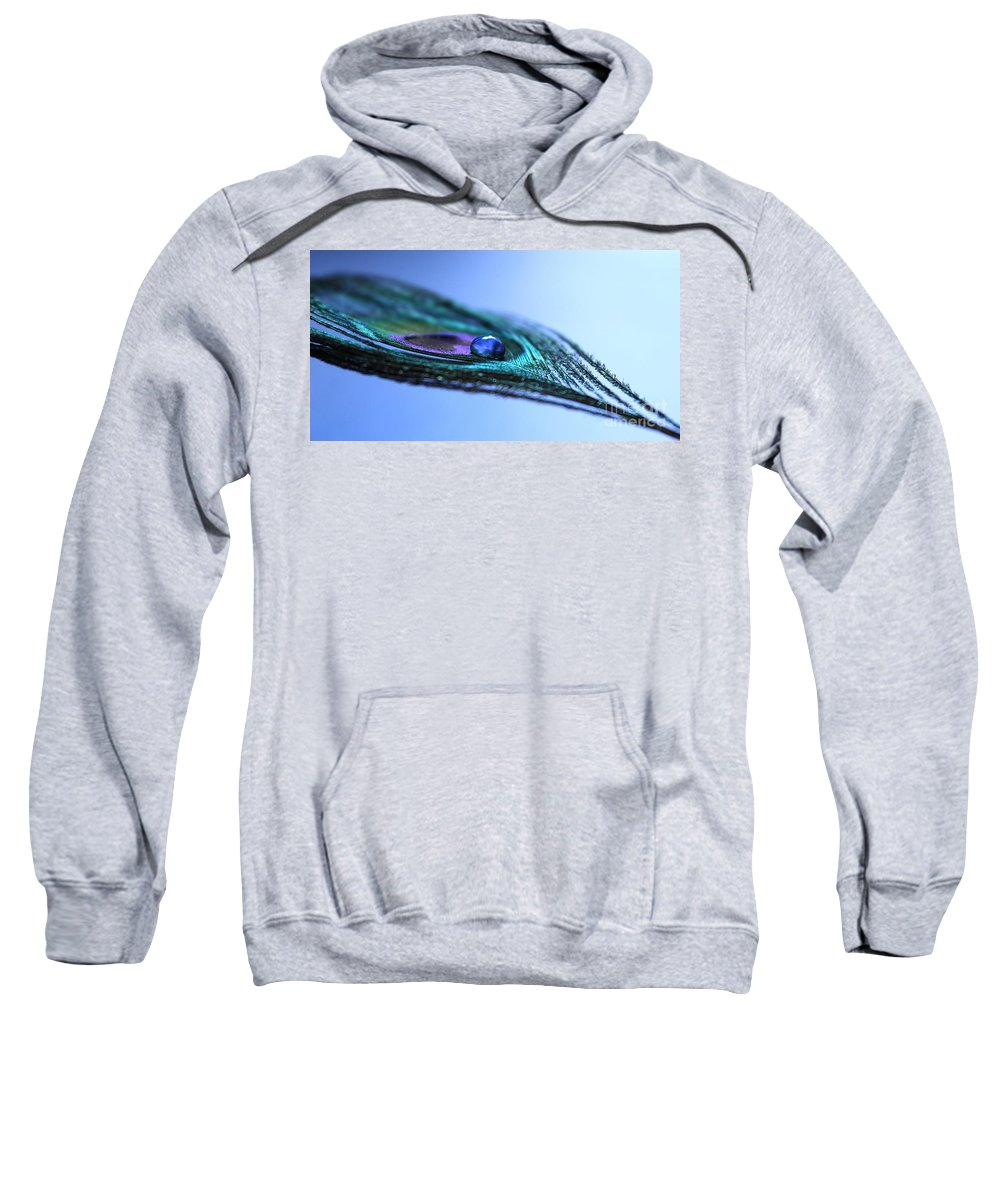 Peacock Feather Sweatshirt featuring the photograph Journey Of Blue by Krissy Katsimbras