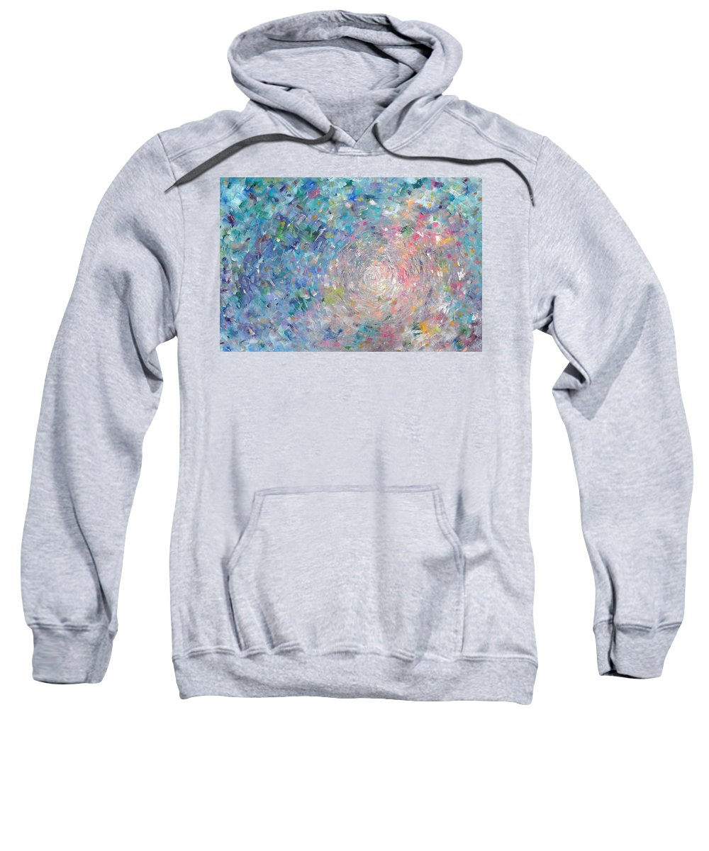 Large Sweatshirt featuring the painting Journey by Sara Gardner