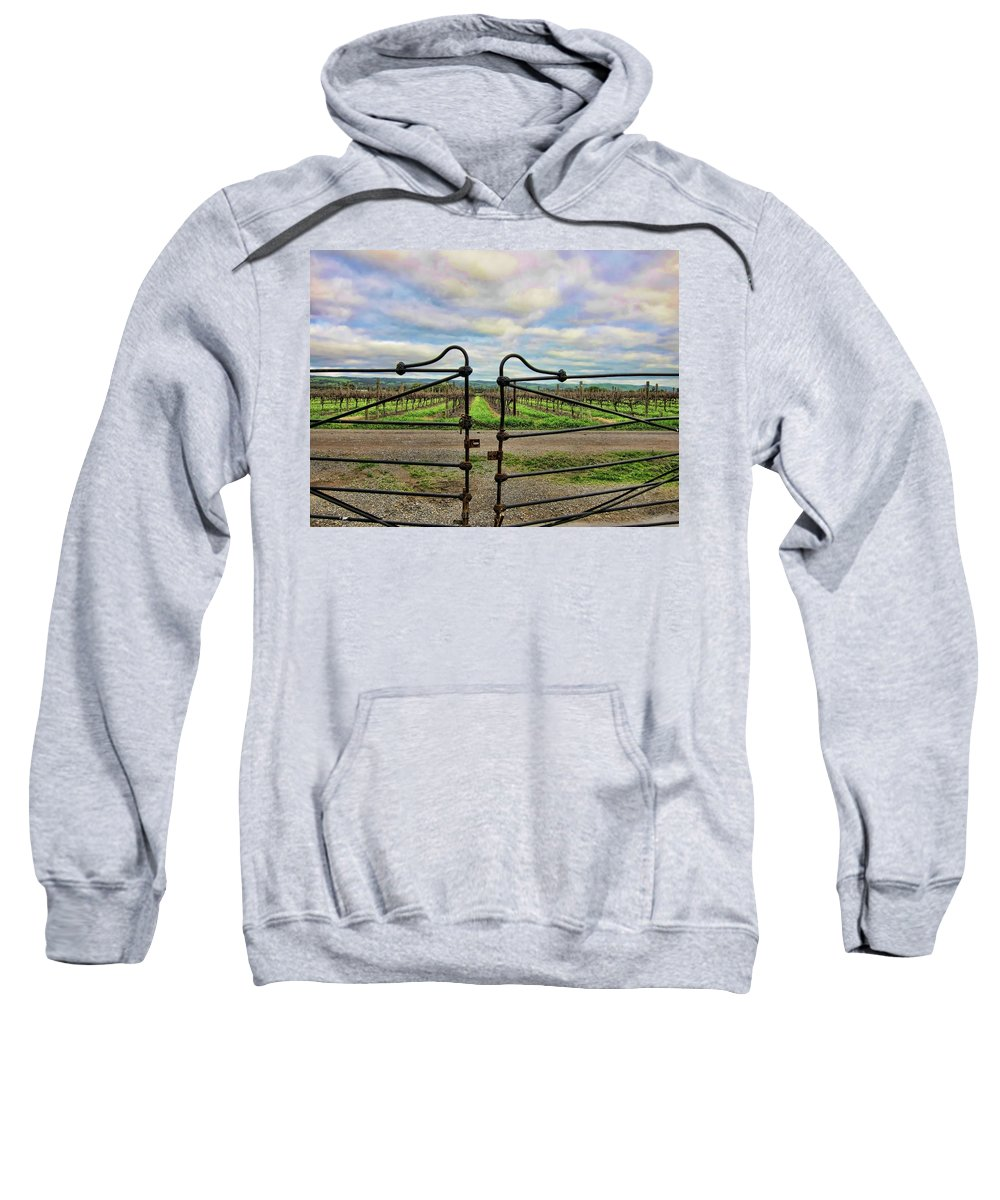 Hates Sweatshirt featuring the photograph Jovial Gateway by Douglas Barnard