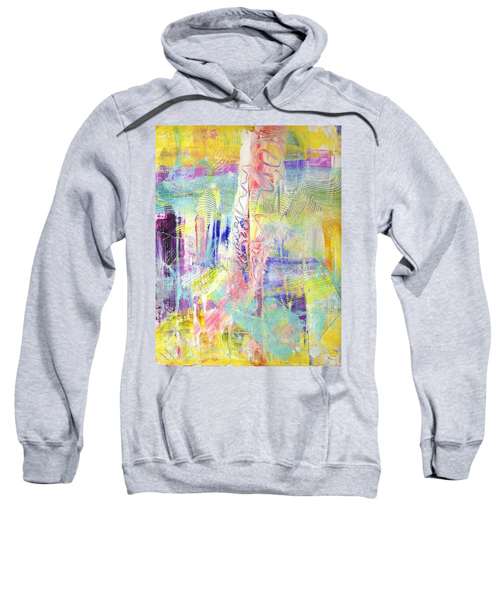 Abstract Sweatshirt featuring the painting Joy In The Morning by Wayne Potrafka
