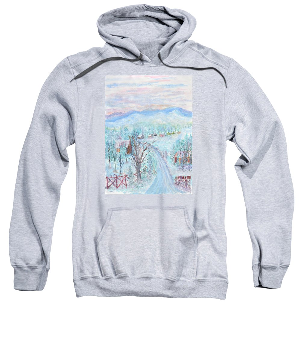 Winter Sweatshirt featuring the painting Joy of Winter by Ben Kiger