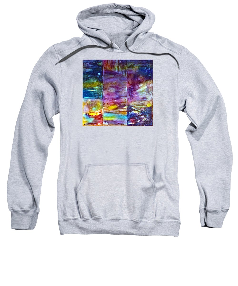 Colorful Sweatshirt featuring the painting Jubilation by Alene Sirott-Cope