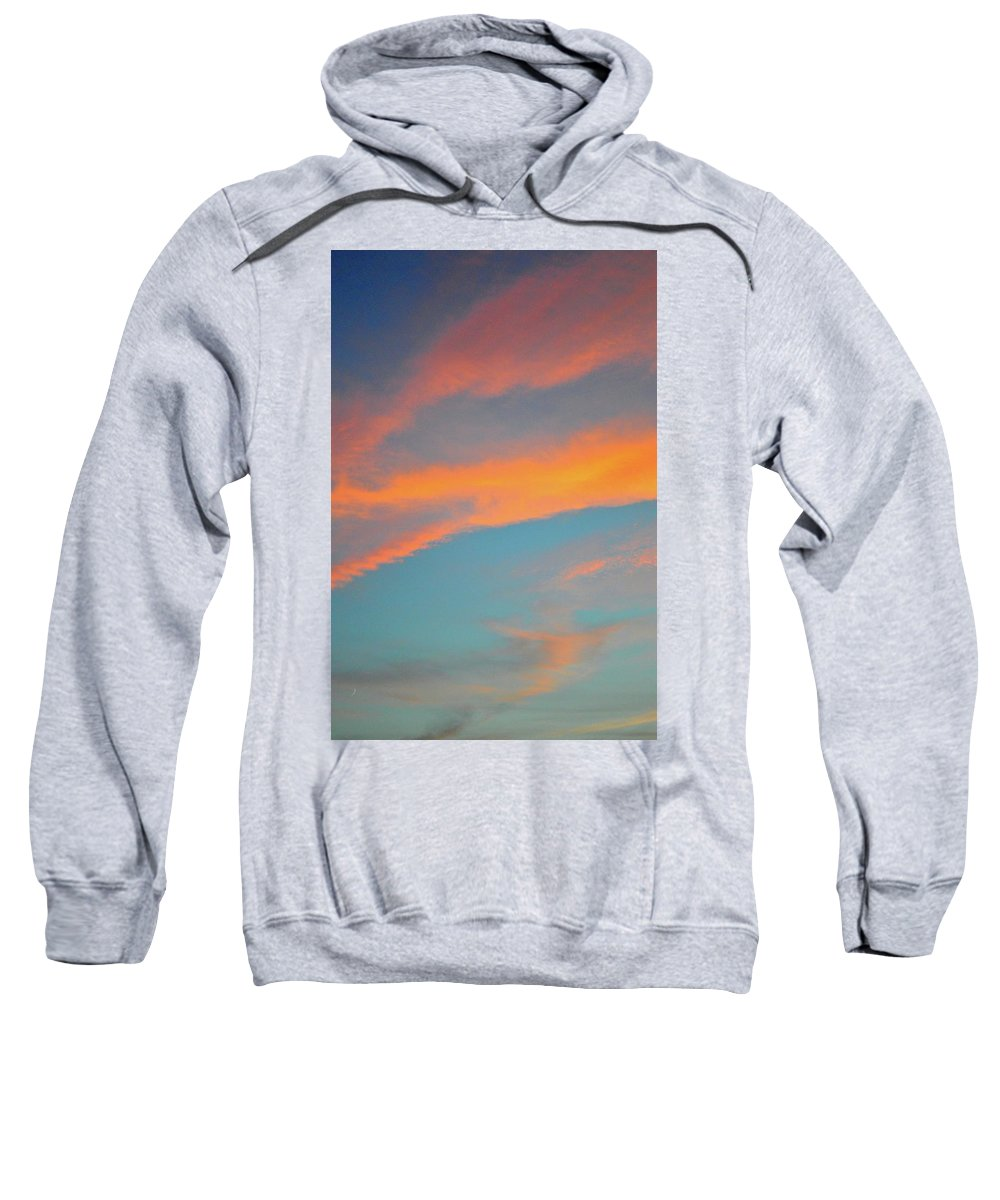 Abstract Sweatshirt featuring the photograph July Sunset by Lyle Crump