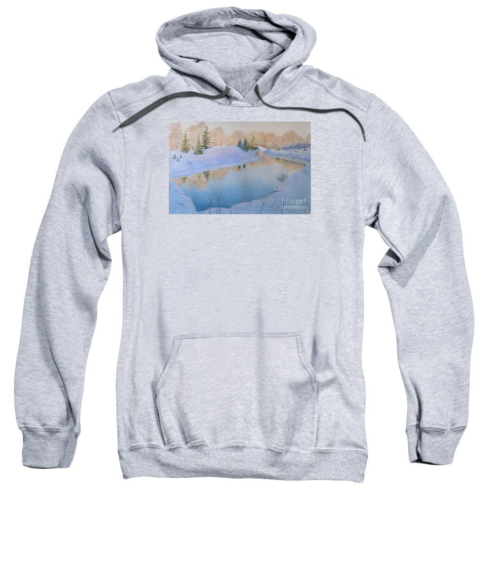 Landscape Sweatshirt featuring the painting Junction Creek by Lynn Quinn