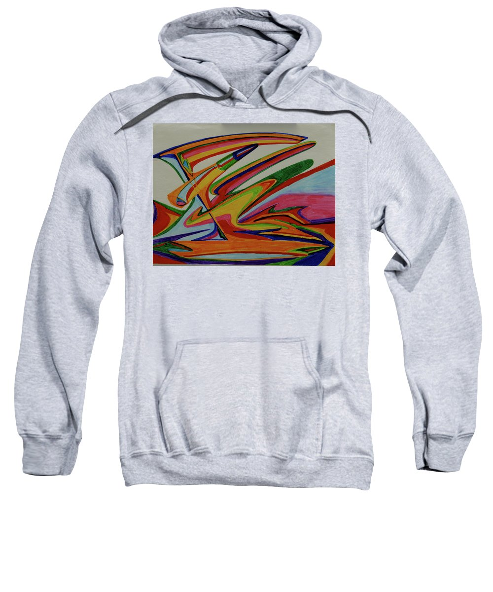 Abstract Sweatshirt featuring the painting Jupiter Bio-weapon by Robert SORENSEN