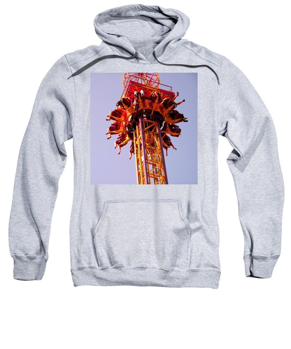 Canadian Sweatshirt featuring the photograph Just Before The Drop by Ian MacDonald