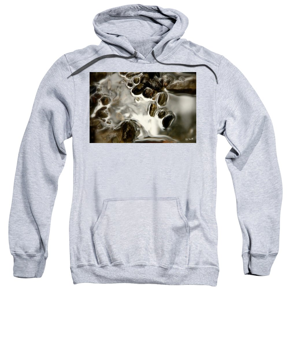 Just Glow With The Flow Sweatshirt featuring the photograph Just Glow With The Flow by Ed Smith